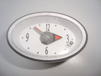 central dash clock with silver suround