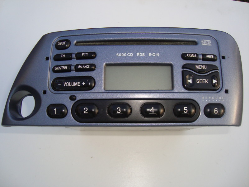 silver blue radio cd 6000 cd rds eon