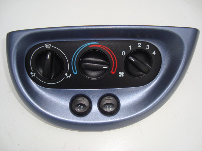 blue heater control panel three position dial