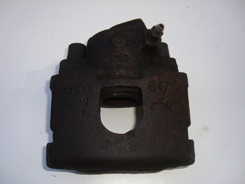 Passenger side brake caliper 847