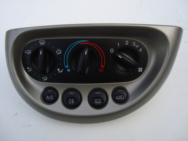 grey heater control panel; six position dial with air conditioning